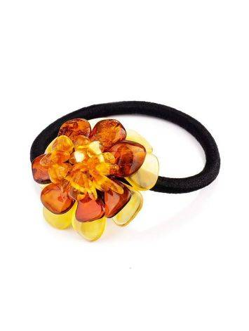 Hair Tie With Natural Amber Flower, image , picture 3