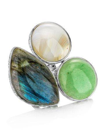 Statement Multi Stone Cocktail Ring The Bella Terra, Ring Size: 8.5 / 18.5, image
