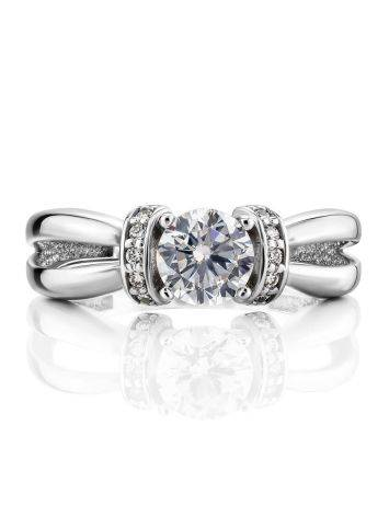 Chic White Gold Crystal Ring, Ring Size: 5.5 / 16, image , picture 3