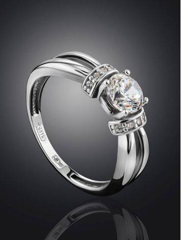 Chic White Gold Crystal Ring, Ring Size: 5.5 / 16, image , picture 2