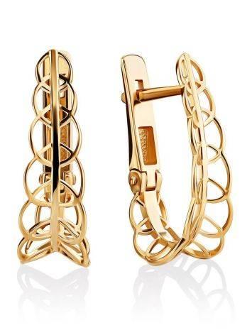 Filigree Loop Golden Earrings, image