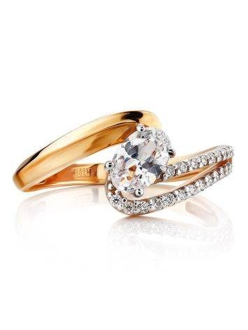 Ultra Feminine Gold Crystal Ring, Ring Size: 6.5 / 17, image , picture 3