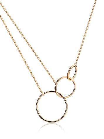 Trendy Geometric Golden Necklace, image