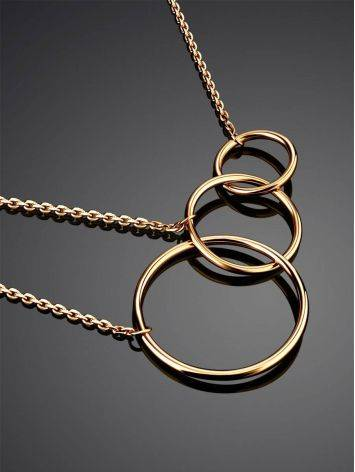 Trendy Geometric Golden Necklace, image , picture 2