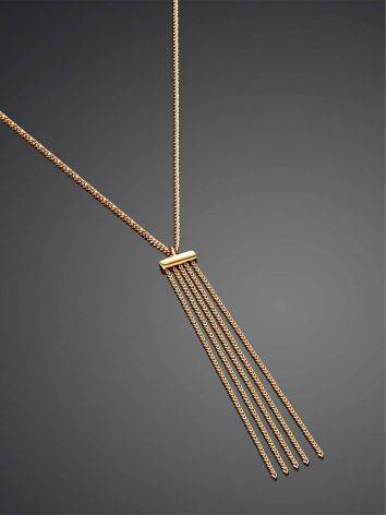 Chic Golden Necklace With Waterfall Chain Pendant, image , picture 2