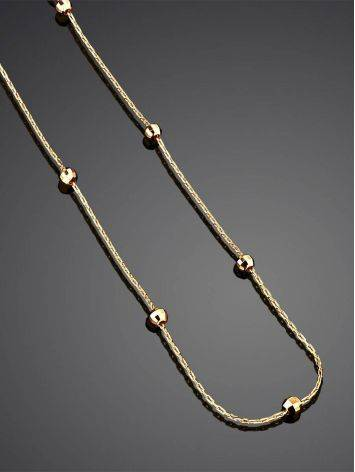 Refined Golden Chain Necklace With Tiny Faceted Beads, image , picture 2