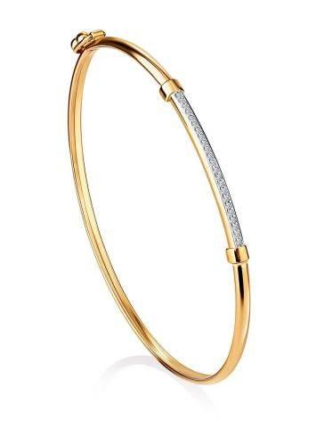 Crystal Encrusted Golden Bangle Bracelet, image