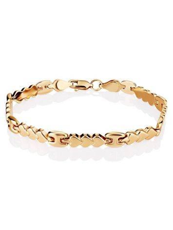 Romantic Style Golden Link Bracelet, image