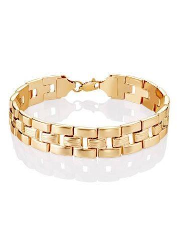 Chunky Golden Link Bracelet, image