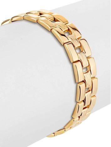 Chunky Golden Link Bracelet, image , picture 3