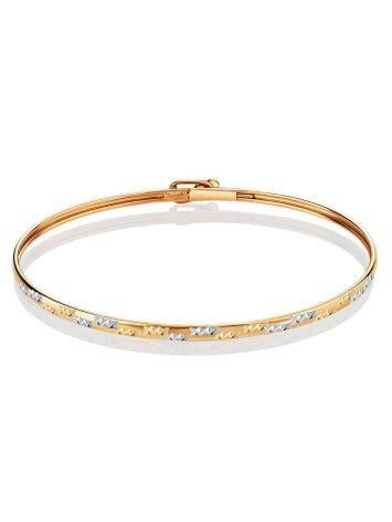 Trendy Golden Bangle Bracelet, image , picture 3