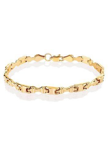 Statement Golden Link Bracelet, image