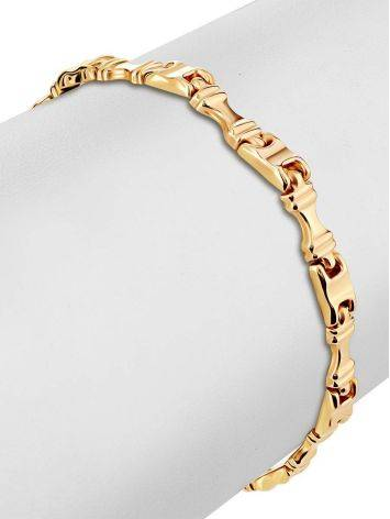Statement Golden Link Bracelet, image , picture 3