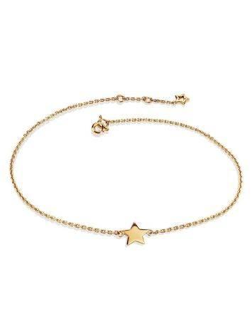 Golden Chain Bracelet With Tiny Stars, image