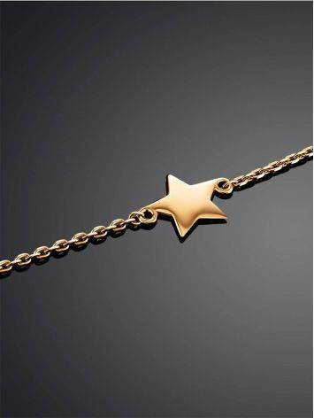 Golden Chain Bracelet With Tiny Stars, image , picture 2
