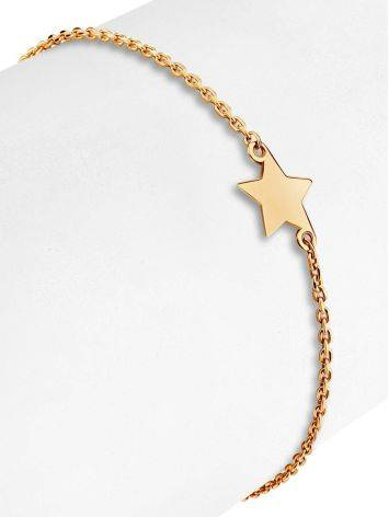 Golden Chain Bracelet With Tiny Stars, image , picture 3