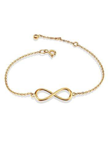 Golden Chain Bracelet With Infinity Symbol, image