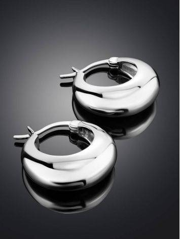 Mini Chunky Silver Hoop Earrings The ICONIC, image , picture 2