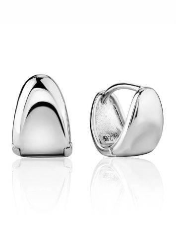 Minimalist Silver Huggies Earrings The ICONIC, image