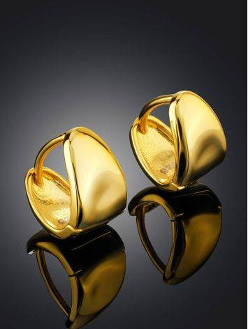 Glossy Gold Plated Silver Huggies The ICONIC, image , picture 2