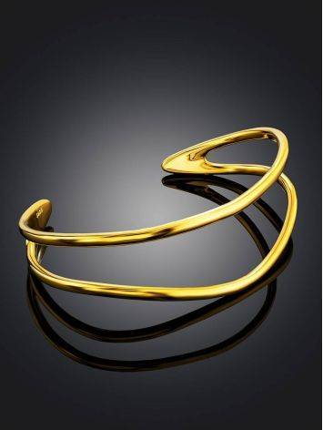 Chic Gold Plated Silver Cuff Bracelet The ICONIC, image , picture 2