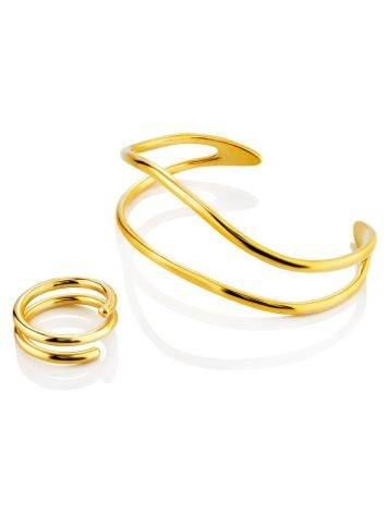 Chic Gold Plated Silver Cuff Bracelet The ICONIC, image , picture 5