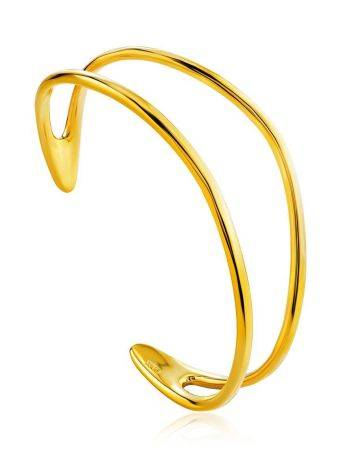 Chic Gold Plated Silver Cuff Bracelet The ICONIC, image