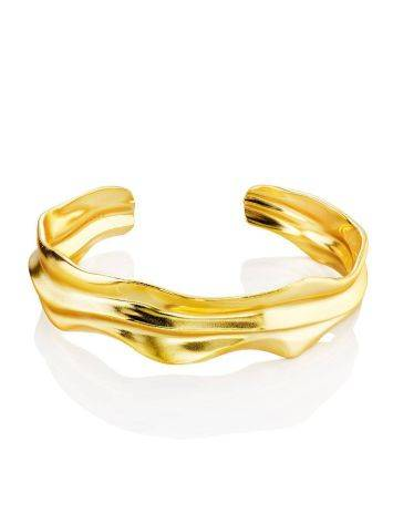 Chic Gold Plated Silver Cuff Bracelet The Liquid, image , picture 3