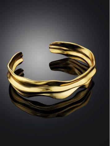 Chic Gold Plated Silver Cuff Bracelet The Liquid, image , picture 2