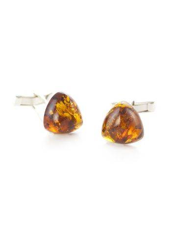 Silver Cufflinks With Cognac Amber The Acapulco, image , picture 2