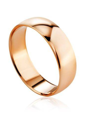 Wide Shank Golden Ring Without Stones, Ring Size: 6 / 16.5, image