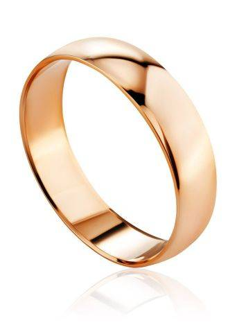 Glossy Golden Band Ring, Ring Size: 6 / 16.5, image
