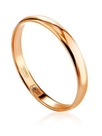 Glossy Stoneless Golden Ring, Ring Size: 6 / 16.5, image