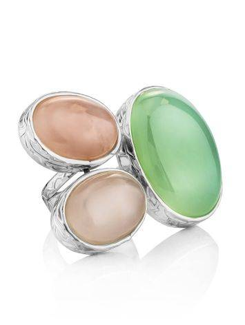 Designer Silver Cocktail Ring With Multicolor Stones Bella Terra, Ring Size: 7 / 17.5, image