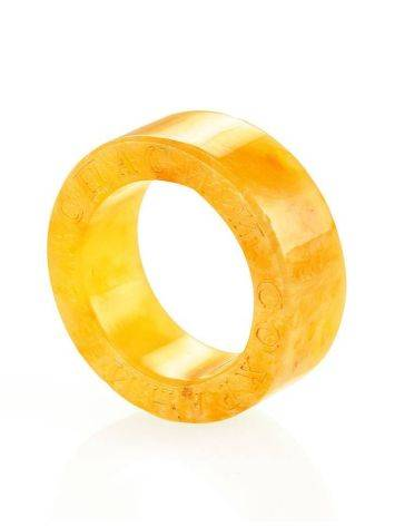 Engraved Amber Band Ring The Magma, Ring Size: 6.5 / 17, image , picture 4