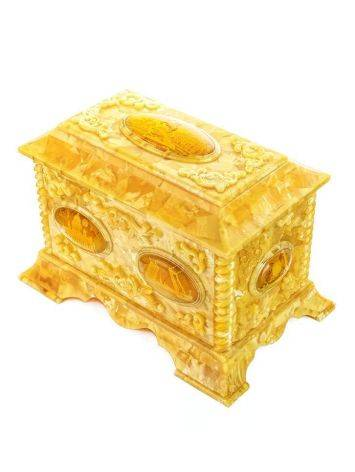 Handcrafted Honey Amber Casket, image , picture 5