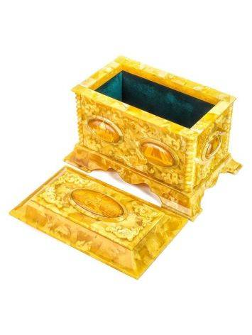 Handcrafted Honey Amber Casket, image , picture 6