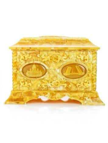 Handcrafted Honey Amber Casket, image , picture 7