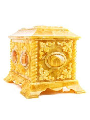 Handcrafted Honey Amber Casket, image , picture 9
