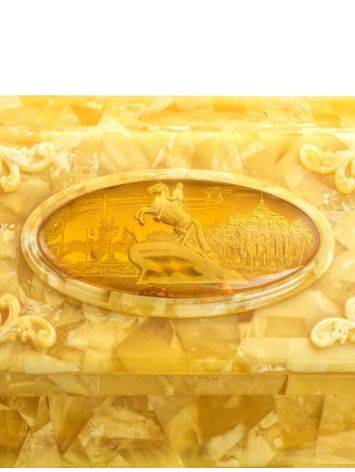 Handcrafted Honey Amber Casket, image , picture 4