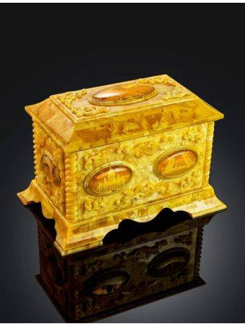 Handcrafted Honey Amber Casket, image , picture 3