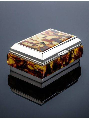 Multicolor Amber Mosaic Jewelry Box, image , picture 2