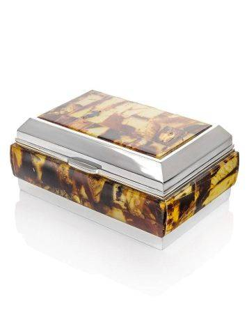 Multicolor Amber Mosaic Jewelry Box, image , picture 3