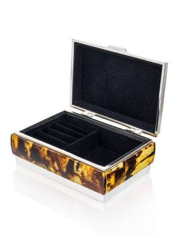 Multicolor Amber Mosaic Jewelry Box, image , picture 4