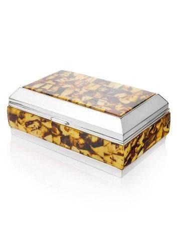 Mosaic Amber Jewelry Box, image , picture 3