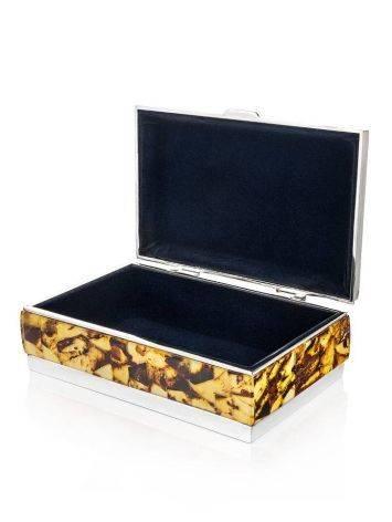 Mosaic Amber Jewelry Box, image , picture 4