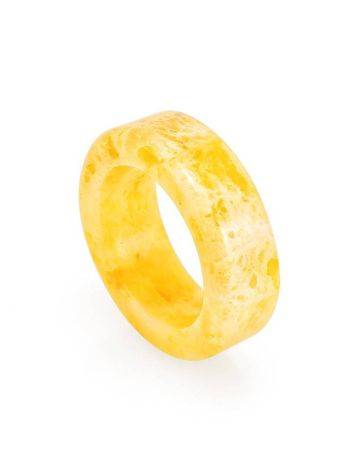 Honey Amber Band Ring The Magma, Ring Size: 8.5 / 18.5, image , picture 5