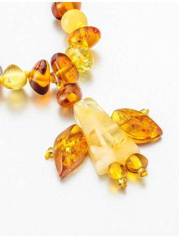 Amber Angel Shaped Pendant Necklace, image , picture 9