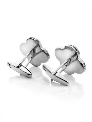 Alhambra Amber Cufflinks In Sterling Silver The Monaco, image , picture 4