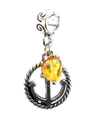 Metal Charm With Lemon Amber The Anchor, image , picture 4